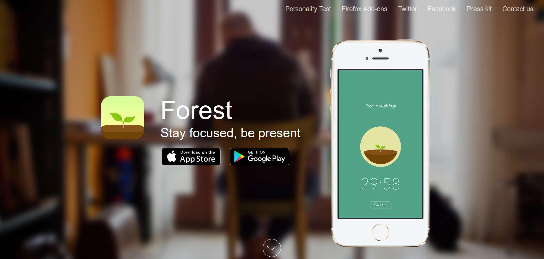 Aplikacja Forest narzędzia do pracy zdalnej